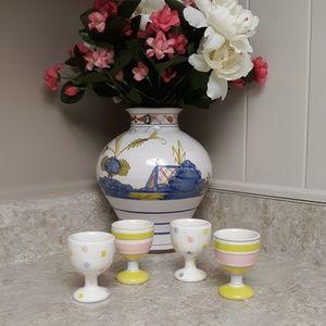A Vintage Set Of Tag Egg Cup Holders Kitchen Decor